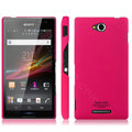 IMAK Ultrathin Matte Color Cover Hard Case for Sony Ericsson S39h Xperia C - Rose