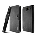 IMAK cross Flip leather case book Holster cover for Coolpad 9070+XO - Black