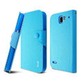 IMAK cross Flip leather case book Holster cover for Coolpad 9070+XO - Blue