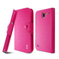 IMAK cross Flip leather case book Holster cover for Coolpad 9070+XO - Rose