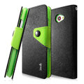 IMAK cross Flip leather case book Holster cover for HTC Butterfly S 901e - Black