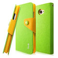 IMAK cross Flip leather case book Holster cover for HTC Butterfly S 901e - Green