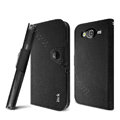 IMAK cross Flip leather case book Holster cover for Samsung I9150 Galaxy Mega 5.8 - Black
