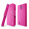 IMAK cross Flip leather case book Holster cover for Samsung I9200 Galaxy Mega 6.3 - Rose