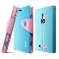 IMAK cross Flip leather case book Holster holder cover for Nokia Lumia 925T 925 - Blue