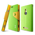 IMAK cross Flip leather case book Holster holder cover for Nokia Lumia 925T 925 - Green