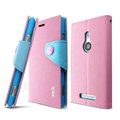IMAK cross Flip leather case book Holster holder cover for Nokia Lumia 925T 925 - Pink