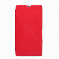 Nillkin Flip leather Case Holster Cover Skin for Sony Ericsson M36h Xperia ZR - Red