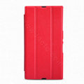 Nillkin Flip leather Case Holster Cover Skin for Sony Ericsson XL39H Xperia Z Ultra - Red