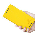 Nillkin Fresh Flip leather Case book Holster Cover Skin for HTC 601E ONE Mini M4 - Yellow
