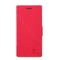 Nillkin Fresh Flip leather Case book Holster Cover Skin for HUAWEI Ascend P2 - Red