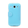 Nillkin Fresh Flip leather Case book Holster Cover Skin for Samsung I8260 I8262 Galaxy Core - Blue