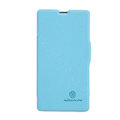 Nillkin Fresh Flip leather Case book Holster Cover Skin for Sony Ericsson M36h Xperia ZR - Blue