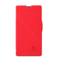 Nillkin Fresh Flip leather Case book Holster Cover Skin for Sony Ericsson M36h Xperia ZR - Red