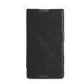 Nillkin Fresh Flip leather Case book Holster Cover Skin for Sony Ericsson S39h Xperia C - Black