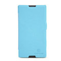 Nillkin Fresh Flip leather Case book Holster Cover Skin for Sony Ericsson S39h Xperia C - Blue