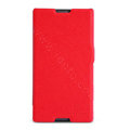 Nillkin Fresh Flip leather Case book Holster Cover Skin for Sony Ericsson S39h Xperia C - Red