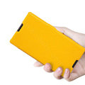 Nillkin Fresh Flip leather Case book Holster Cover Skin for Sony Ericsson S39h Xperia C - Yellow