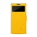 Nillkin Fresh leather Case Bracket Holster Cover Skin for HUAWEI P6 - Yellow