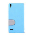Nillkin In-Fashion Flip leather Case Stand Holster Cover for HUAWEI P6 - Blue