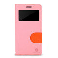 Nillkin In-Fashion Flip leather Case Stand Holster Cover for HUAWEI P6 - Pink