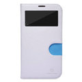 Nillkin In-Fashion Flip leather Case Stand Holster Cover for Samsung I9200 Galaxy Mega 6.3 - White