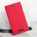 Nillkin Super Matte Hard Case Skin Cover for Sony Ericsson S39h Xperia C - Red