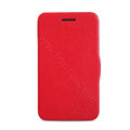 Nillkin Victory Flip leather Case Button Holster Cover Skin for BlackBerry Q5 - Red