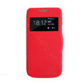 Nillkin Victory Flip leather Case Button Holster Cover Skin for Samsung I9190 GALAXY S4 Mini - Red