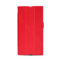 Nillkin Victory Flip leather Case Button Holster Cover Skin for Sony Ericsson XL39H Xperia Z Ultra - Red
