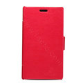 Nillkin Victory Flip leather Case book button Holster Cover for Nokia Lumia 925T - Red