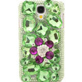 Bling Crystal Cover Rhinestone Diamond Case For Samsung GALAXY S4 I9500 SIV - Green