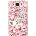 Bling Crystal Cover Rhinestone Diamond Case For Samsung GALAXY S4 I9500 SIV - Pink