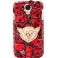 Bling Crystal Cover Rhinestone Diamond Case For Samsung GALAXY S4 I9500 SIV - Red