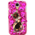 Bling Crystal Cover Rhinestone Diamond Case For Samsung GALAXY S4 I9500 SIV - Rose