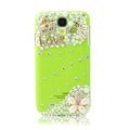 Bling Love Crystal Case Pearl Cover for Samsung GALAXY S4 I9500 SIV - Green