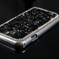 Luxury Bling Case Protective Shell Cover for Samsung GALAXY S4 I9500 SIV - Black