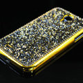 Luxury Bling Case Protective Shell Cover for Samsung GALAXY S4 I9500 SIV - Gold