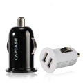 Capdase Auto Dual USB Car Charger Universal Charger for Samsung S6810 Galaxy Fame - Black