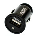 Ozio 1.0A Auto USB Car Charger Universal Charger for HUAWEI Ascend P6 - Black