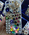 Bling S-warovski crystal cases Peacock diamonds cover for iPhone 5C - White