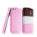 IMAK Chocolate Series leather Case Holster Cover for iPhone 5C - Pink