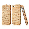 IMAK Ostrich Series leather Case holster Cover for iPhone 5C - Brown