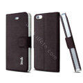 IMAK Squirrel lines leather Case support Holster Cover for iPhone 5C - Coffee