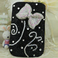 Luxury Bling Holster Covers Bow Crystal diamond Cases for iPhone 5C - Black