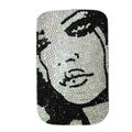 Luxury Bling Holster Covers MICHAEL JACKSON Crystal diamond Cases for iPhone 5C - Black