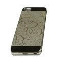 Luxury Plated metal Hard Back Cases Covers for iPhone 5C - Grey