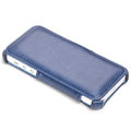 ROCK Dancing Series Side Flip Leather Cases Holster Covers for iPhone 5C - Blue