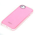 ROCK Joyful free Series Leather Cases Holster Covers for iPhone 5C - Pink