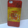 Retro Spain flag Hard Back Cases Covers Skin for iPhone 5C